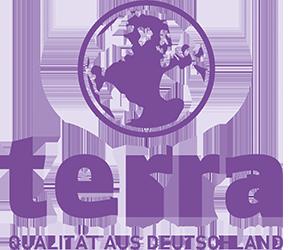 TERRA Logo zentriert_mit Unterzeile_Lila_CMYK